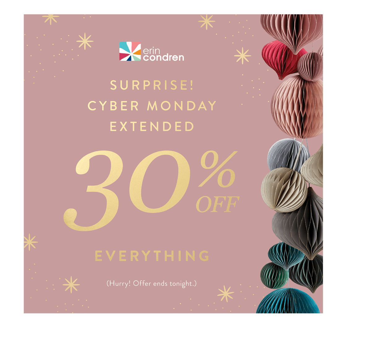 EXTENDED!!!!! Erin Condren Cyber Monday Sale – Save 30% Off EVERYTHING + Free Gift