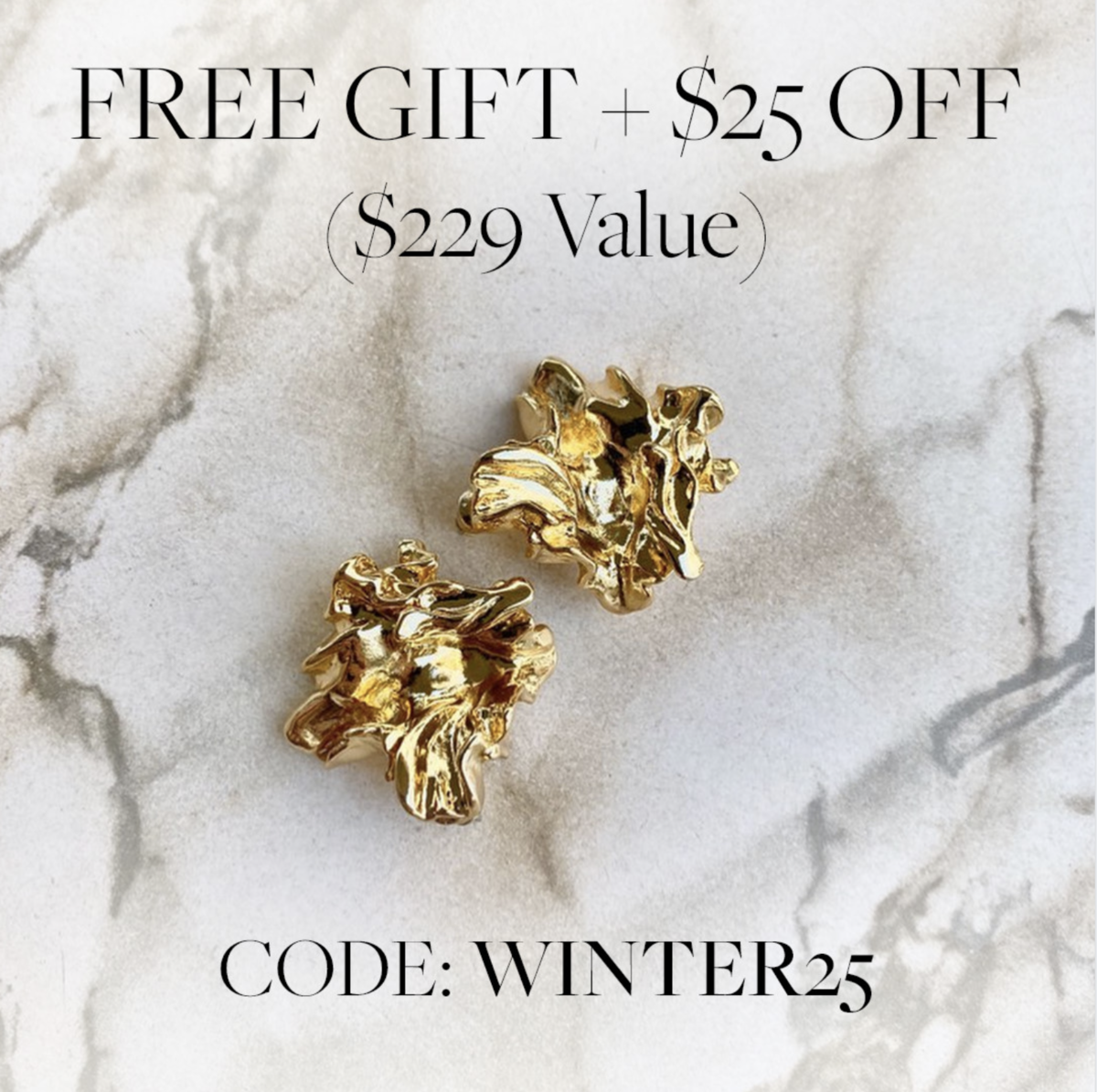 CURATEUR Coupon Code – Save $25 + FREE Amber Sceats Earrings