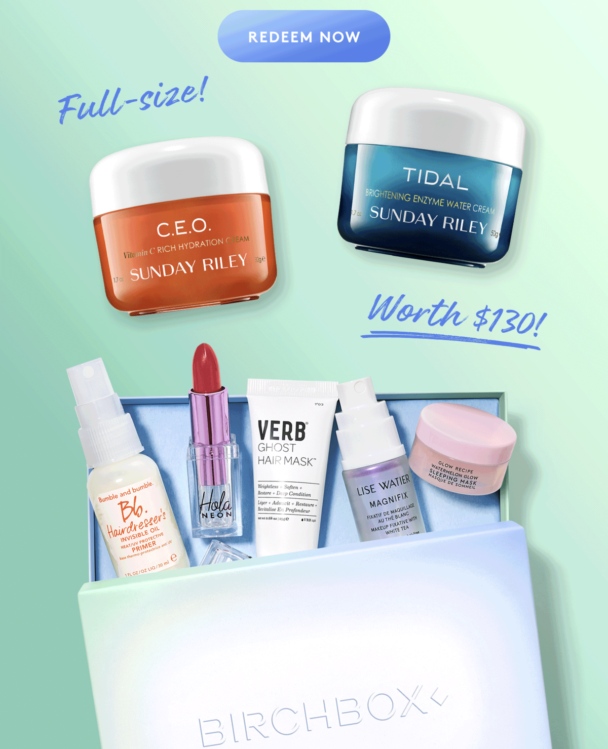 Birchbox Coupon Code – Free Sunday Riley Duo with 12-Month Subscription