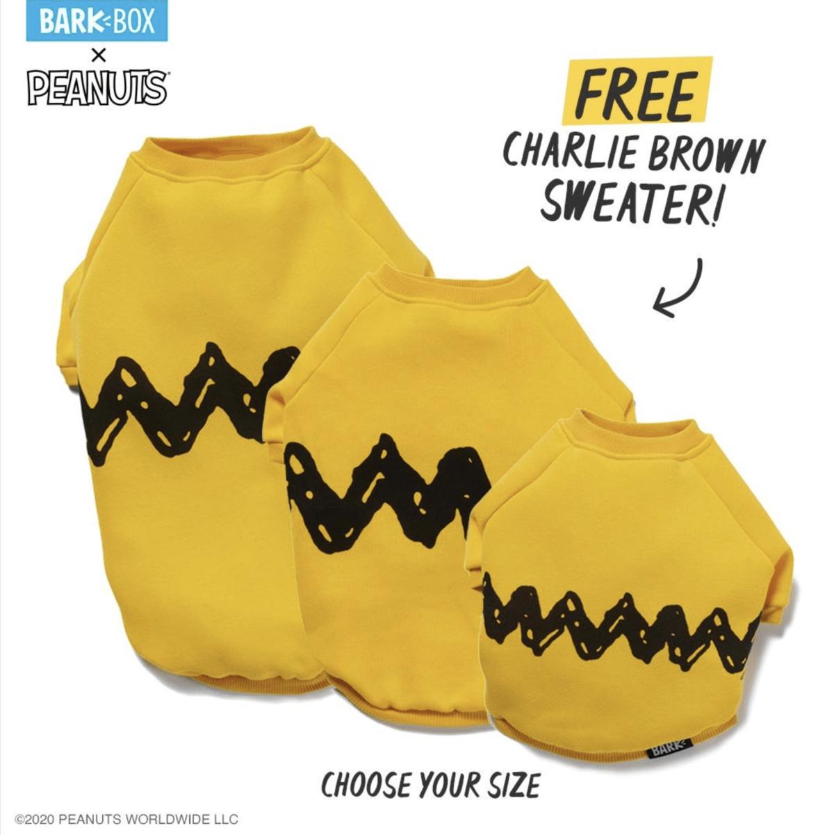 BarkBox Coupon Code – Free Charlie Brown Sweater!