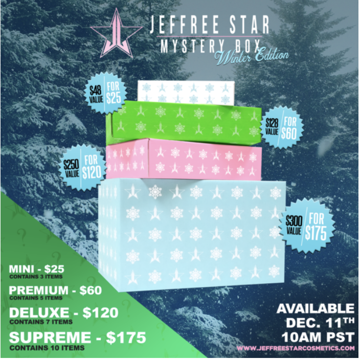 Jeffree Star Winter Mystery Boxes – On Sale Now