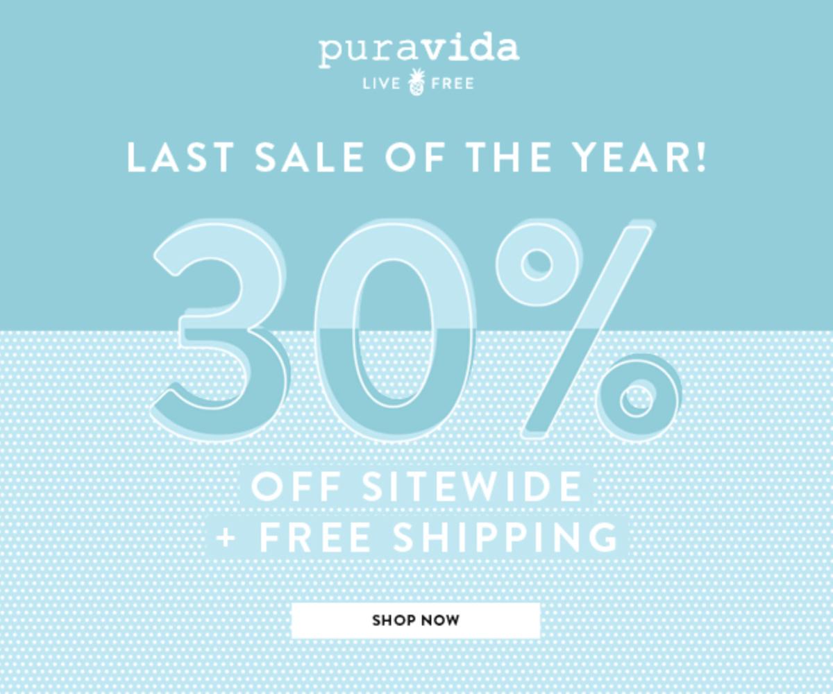 Pura Vida Boxing Day Sale – Save 30%!