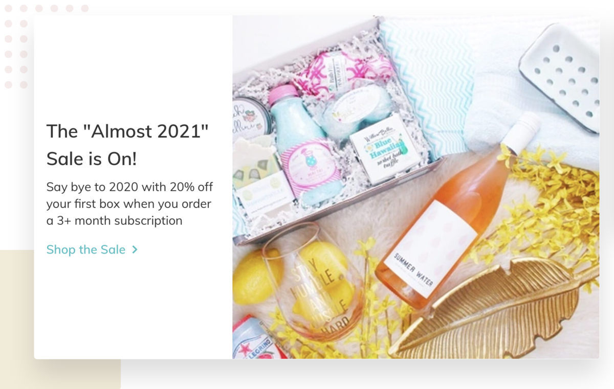 "CrateJoy The ""Almost 2021"" Sale!"