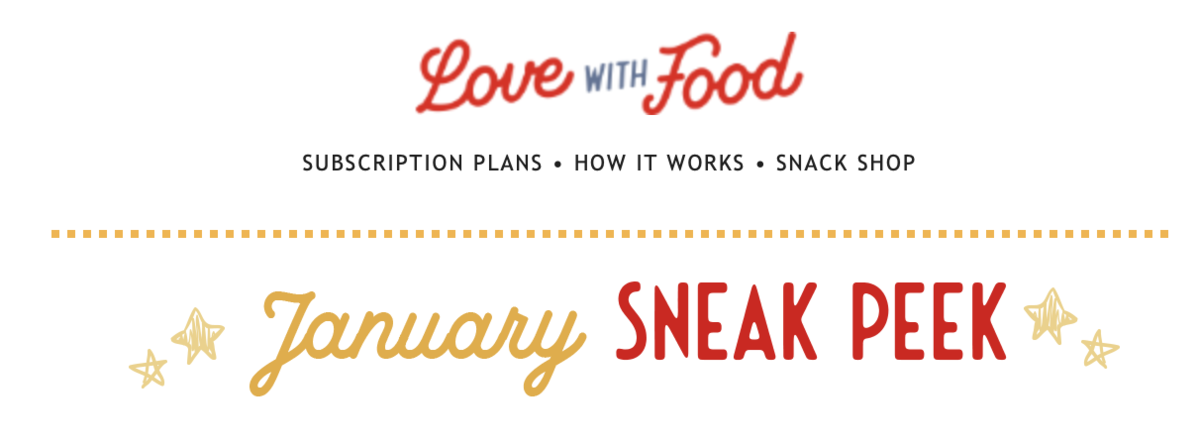 Love With Food January 2021 Spoilers