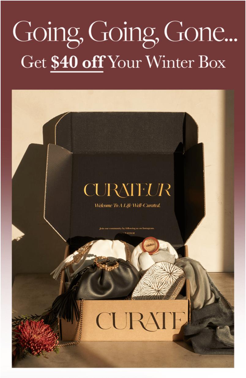 CURATEUR Coupon Code – Save $40