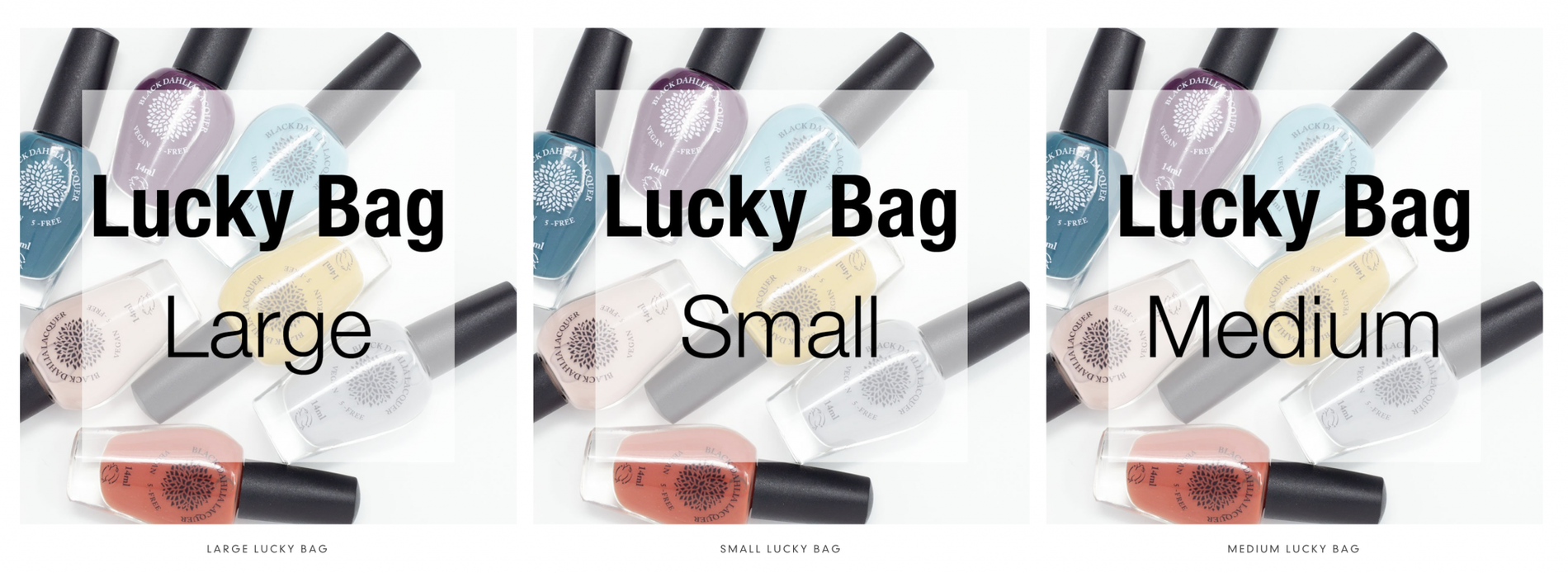 Black Dahlia Lacquer Lucky Bags – On Sale Now!