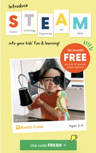 KiwiCo Coupon Code – Free Month with 6+ month subscription!