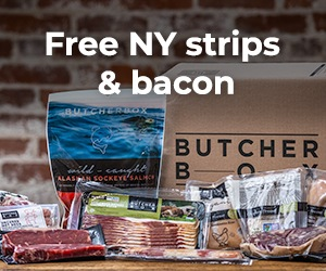 Butcher Box – Free New York Strip Steaks + Bacon in Your First Box!