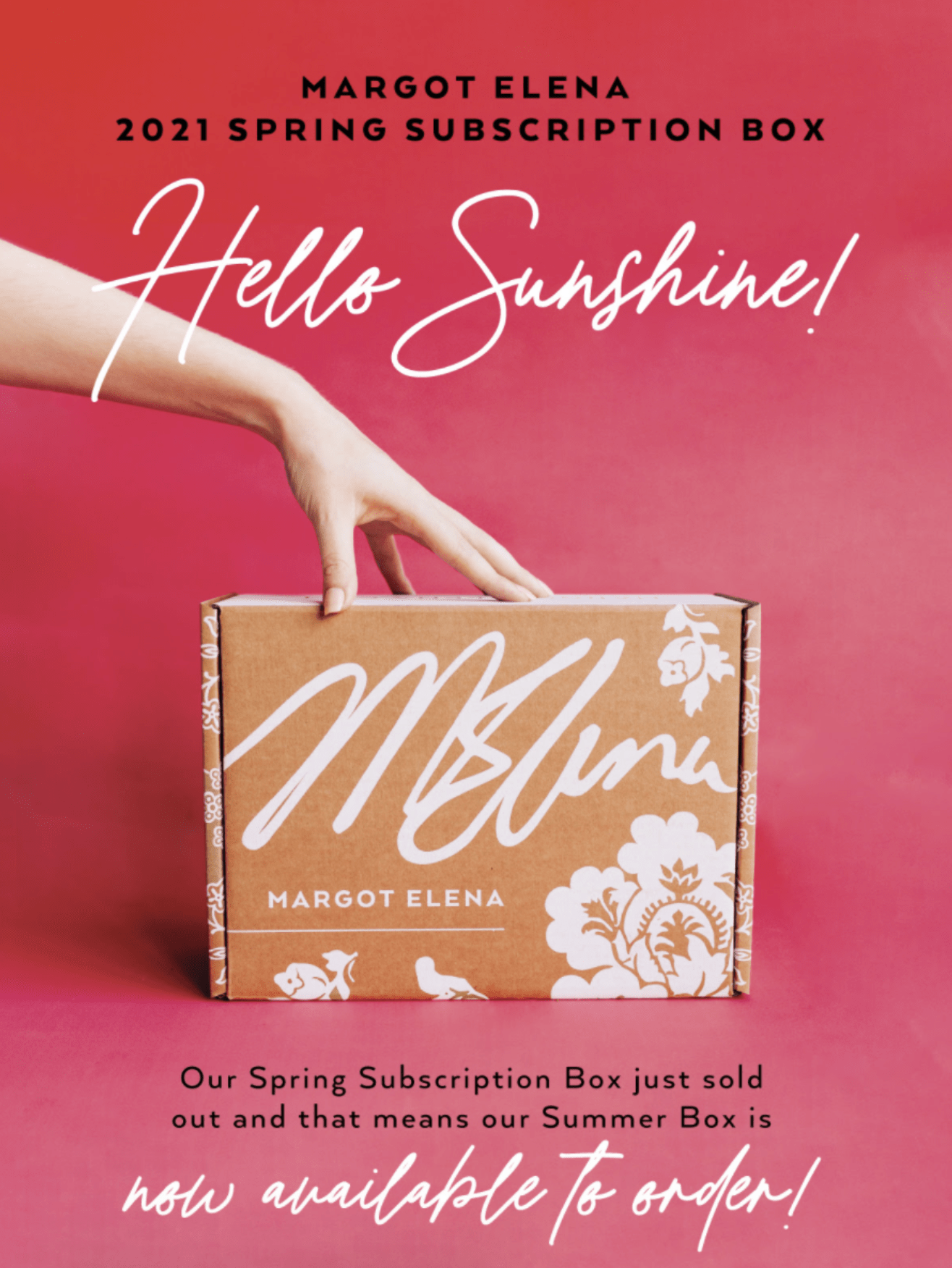 Margot Elena Seasonal Discovery Box Summer 2021 Box – On Sale Now