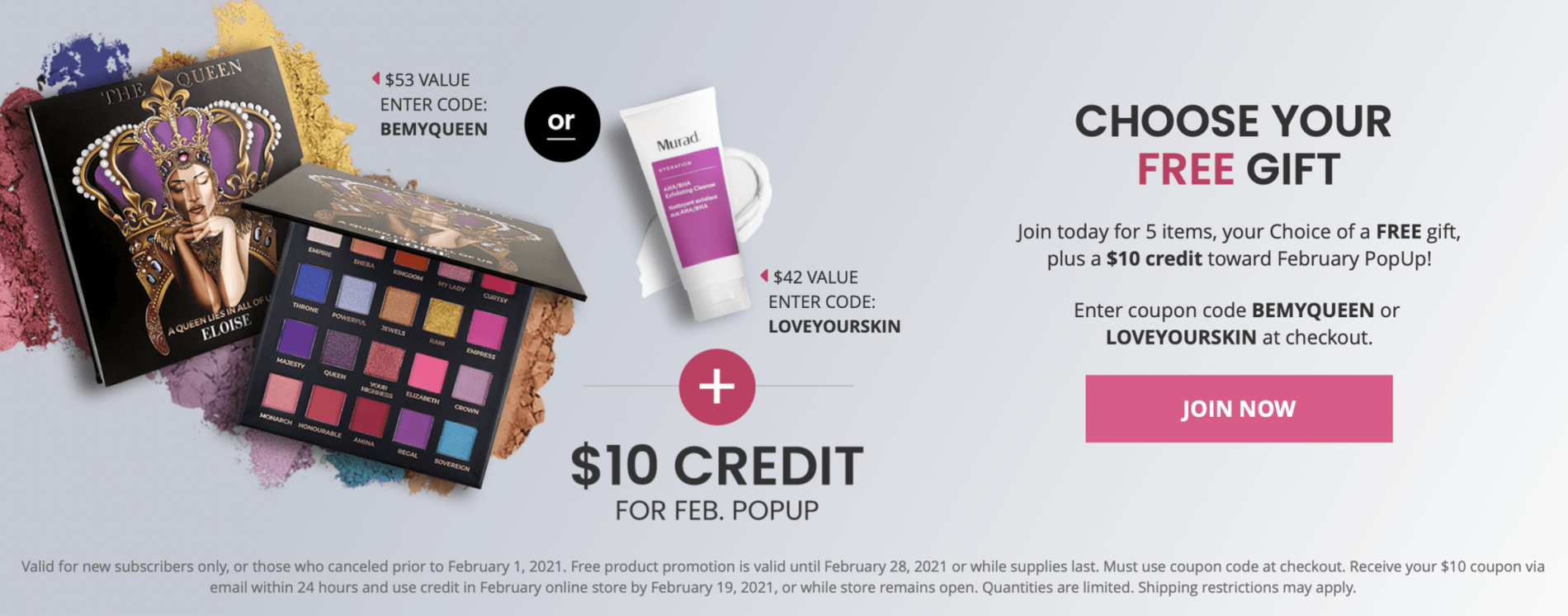BOXYCHARM February 2021 Coupon Code – Choice of FREE Gift with Purchase + $10 Pop-Up Credit!
