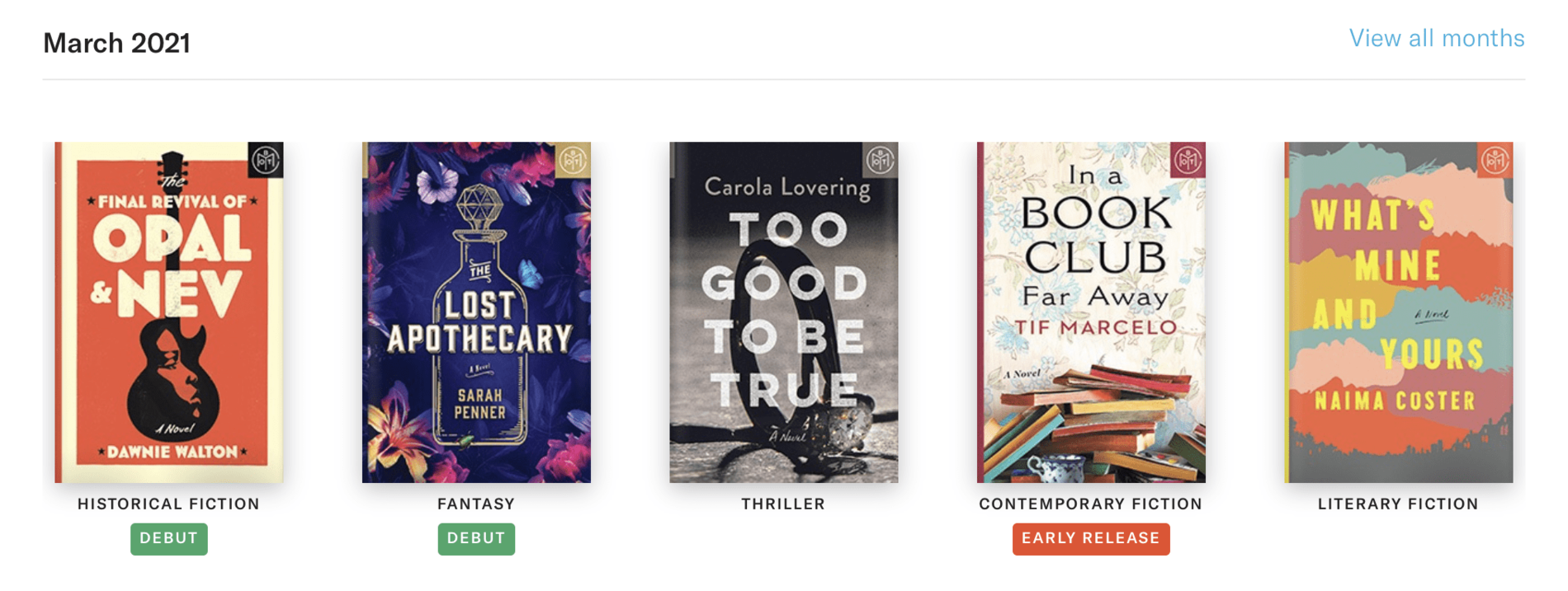 Book of the Month March 2021 Reveal + Selection Time + Coupon Code