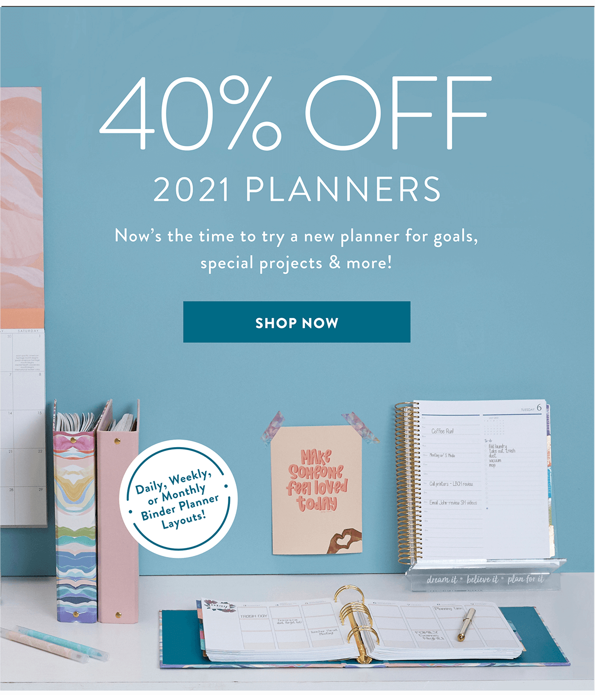 Erin Condren Flash Sale – Save 40% Dated Planners!