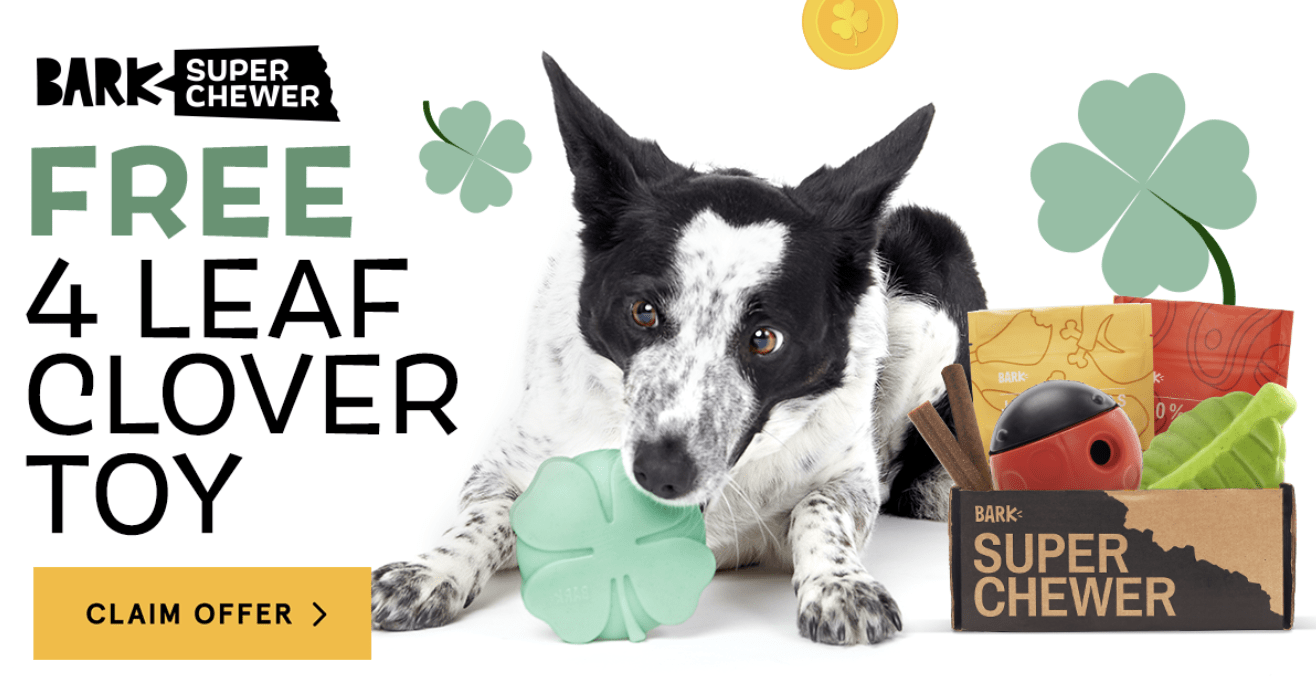 BarkBox Super Chewer Coupon Code – FREE 4 Leaf Clover Toy!