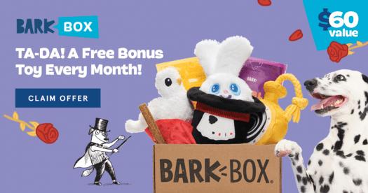 BarkBox Coupon Code: Six Free Extra Toys!