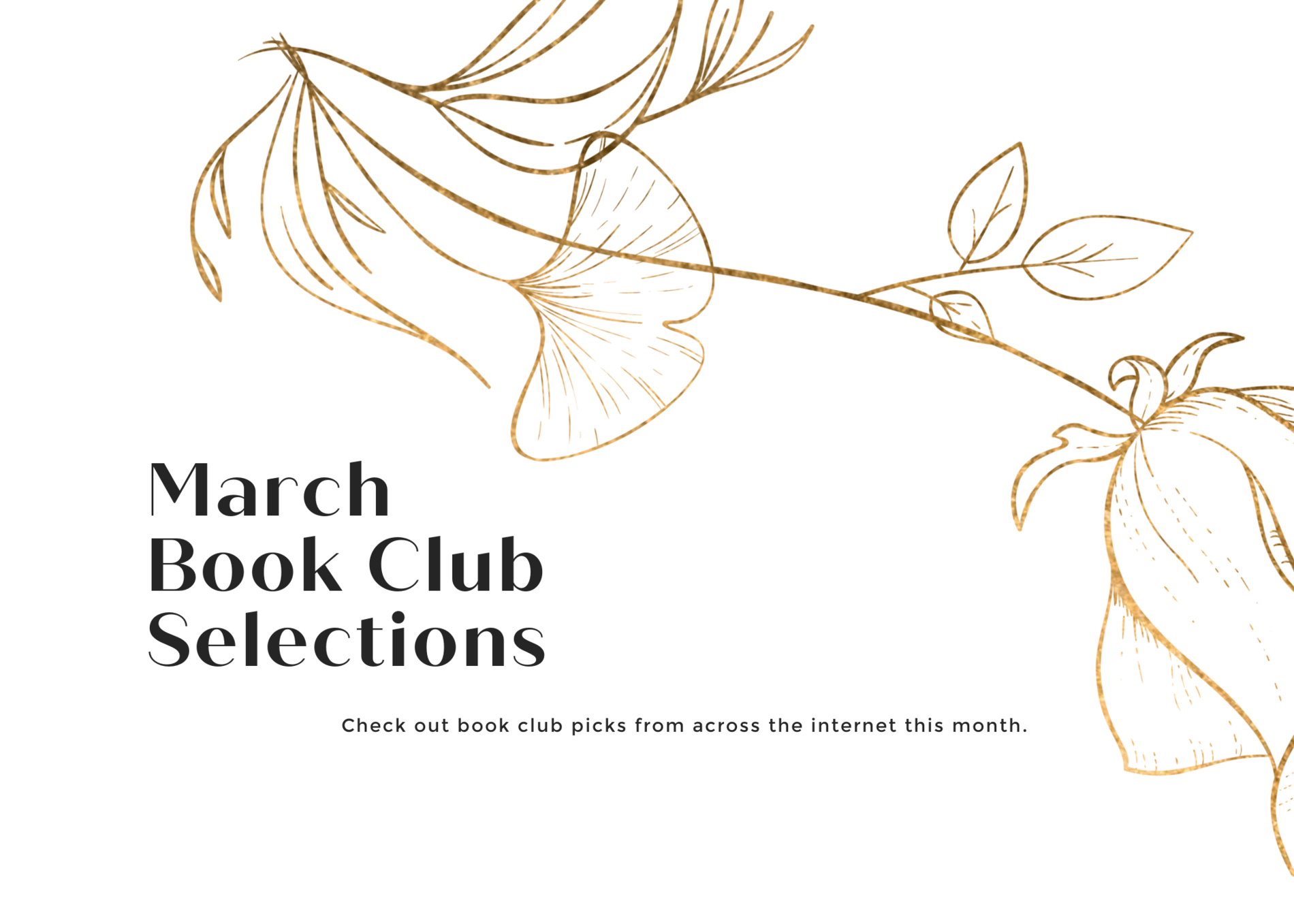 March 2021 Book Club Selections