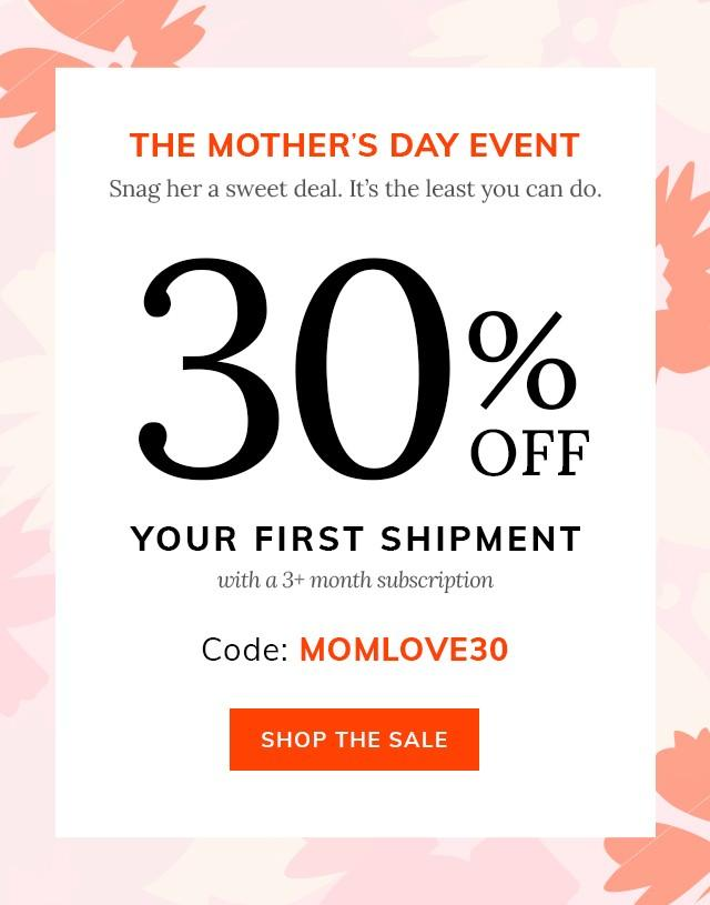 Cratejoy Mother's Day Sale – Save 30% off Your First Month of Select Boxes
