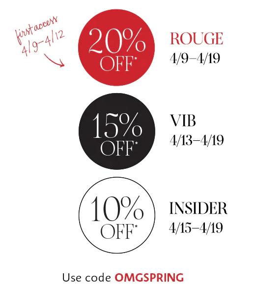 Sephora Spring Savings Event – Save 20% Off