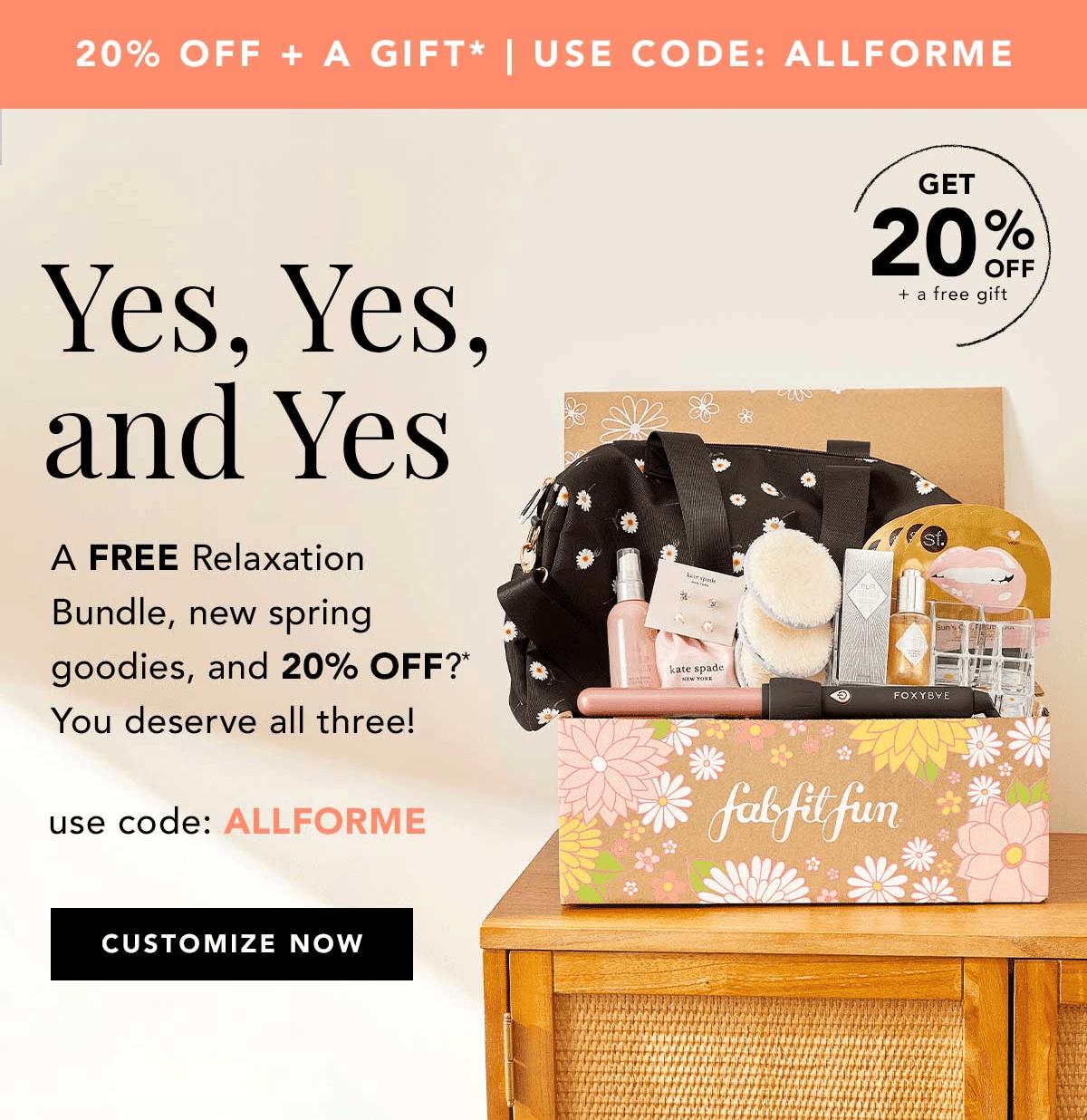 FabFitFun Coupon Code – 20% Off + Free Relaxation Bundle