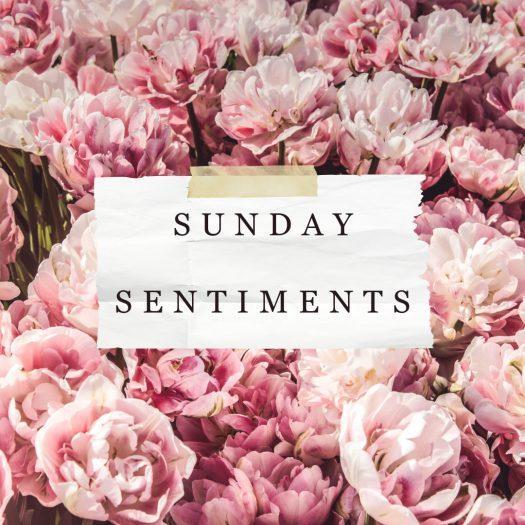 Sunday Sentiments