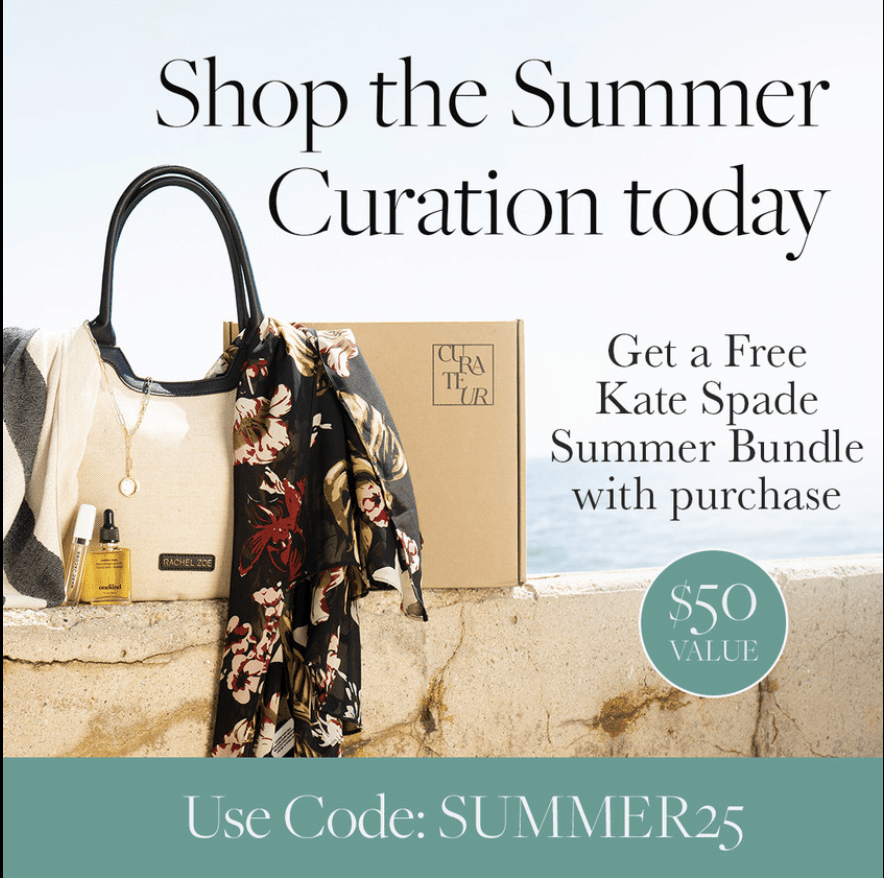 CURATEUR Summer 2021 Coupon Code – Save $25 + FREE Kate Spade Bundle!