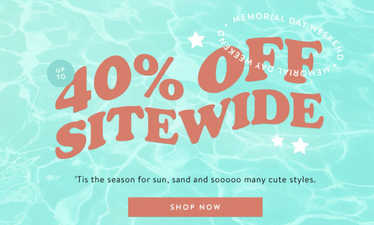 Pura Vida Memorial Day Sale – Save 40% Off Sitewide!