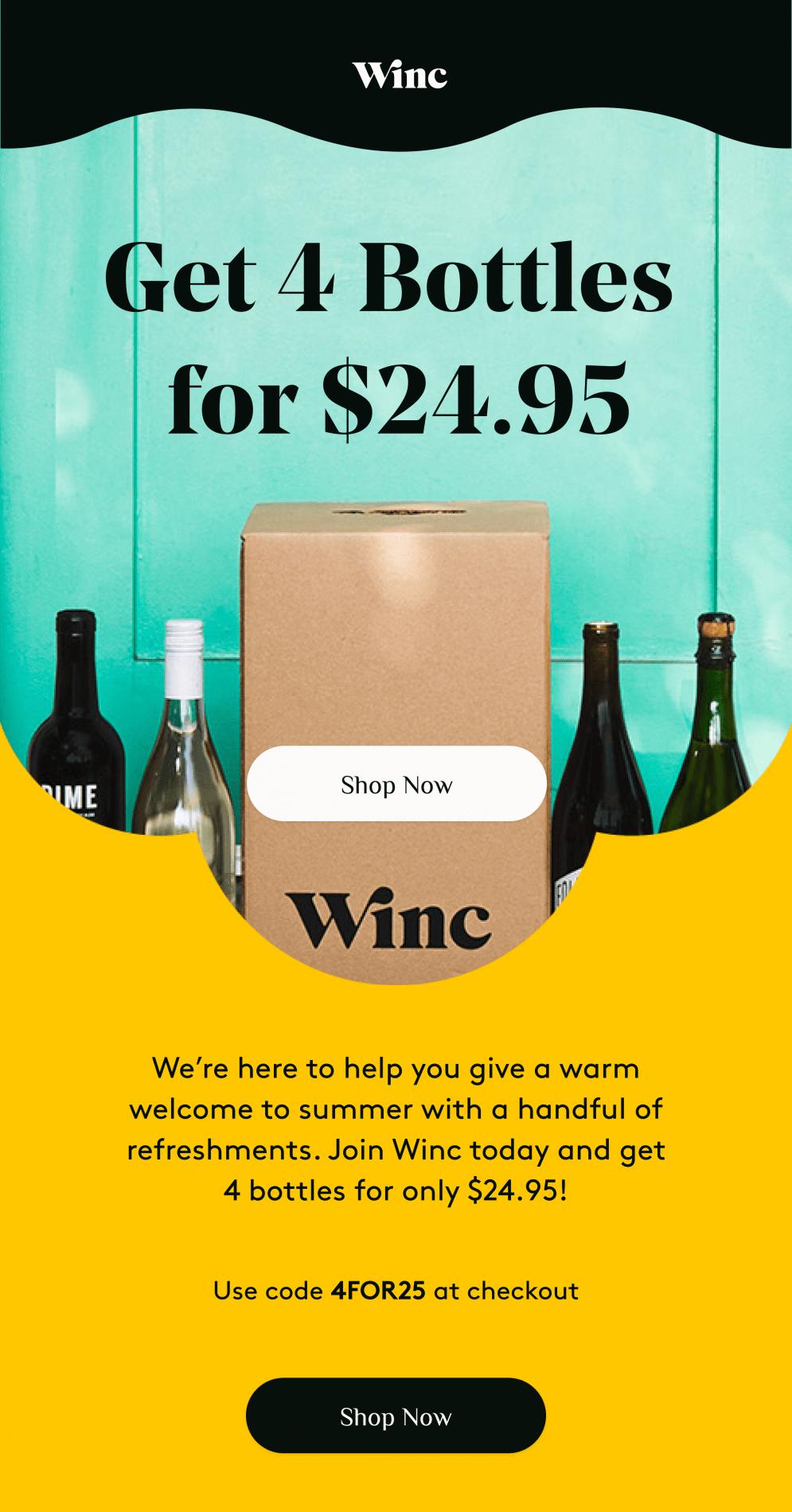 Winc Memorial Day Sale – 4 Bottles for $25!