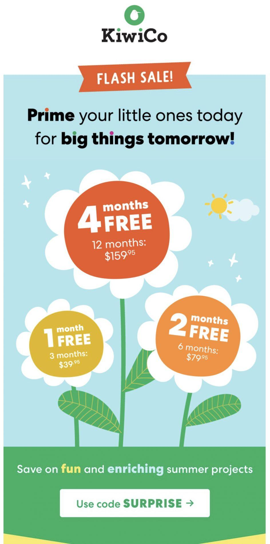 KiwiCo Sale – Up to 4-Months Free
