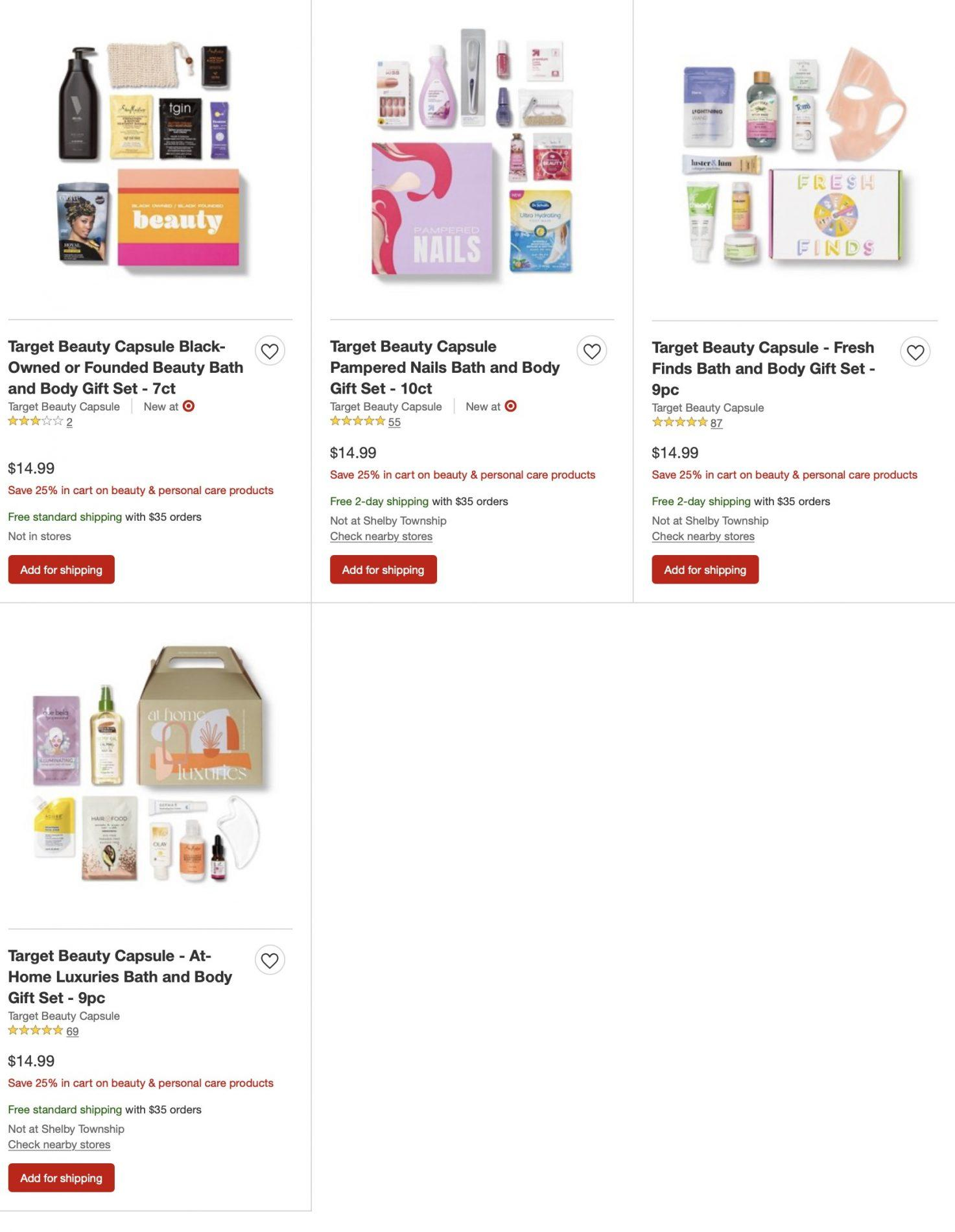 Target Beauty Box Sets – Now 25% Off!
