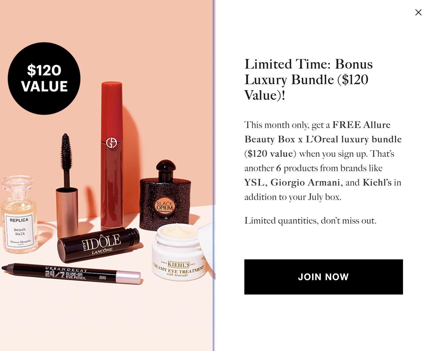 Allure Beauty Box Coupon Code – FREE Allure Beauty Box x L'Oreal luxury bundle ($120 value)!