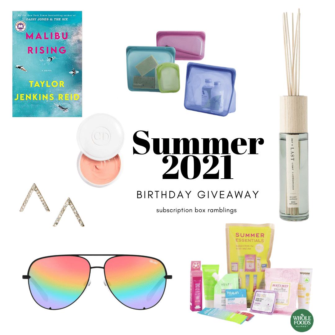 Subscription Box Ramblings Summer 2021 Birthday Giveaway!