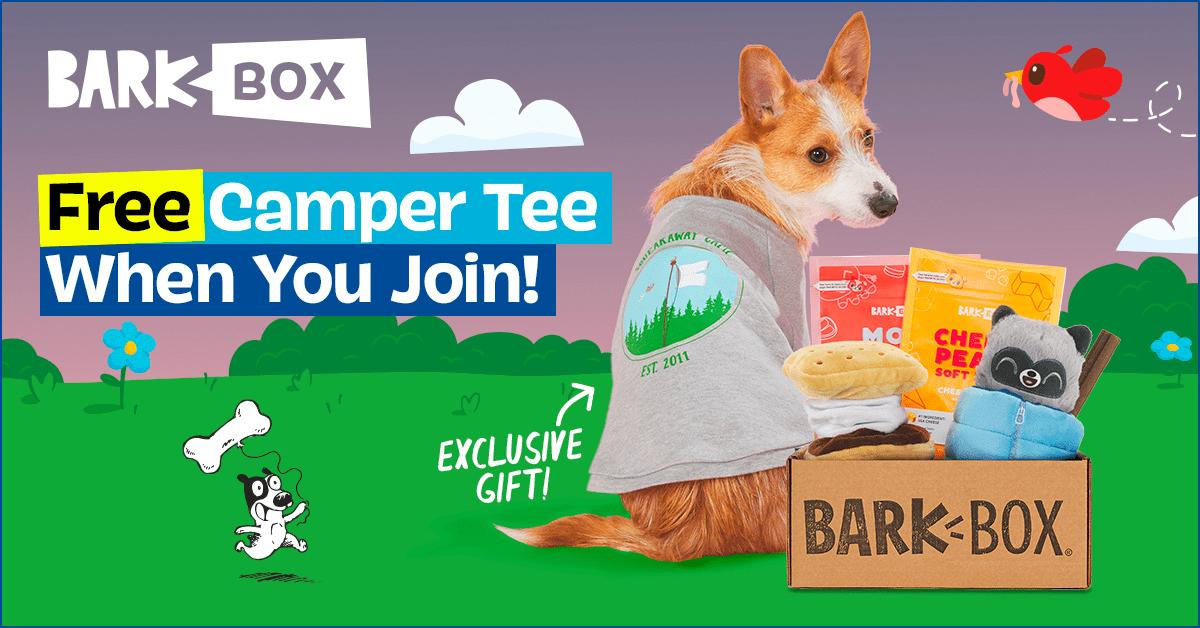 BarkBox Coupon Code – Free Camper Tee!