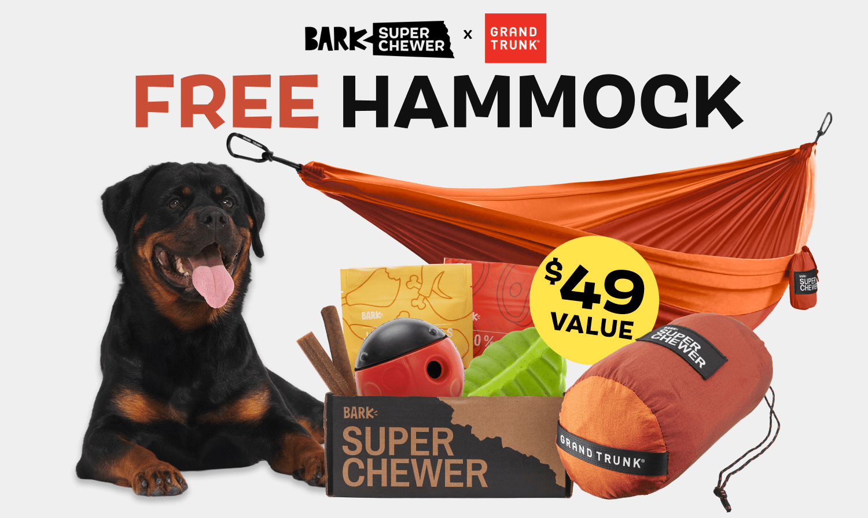 BarkBox Super Chewer Coupon Code – FREE double-sized HAMMOCK ($49 Value)!