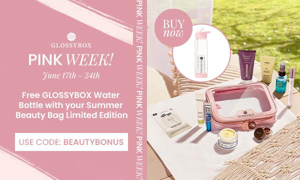 GLOSSYBOX Limited Edition Summer Essentials Bag – Free Water Bottle