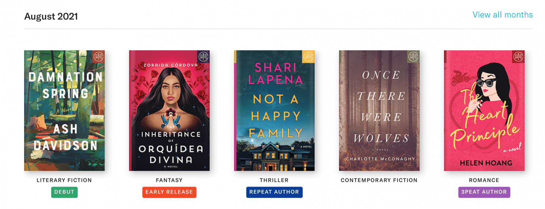 Book of the Month August 2021 Reveal + Selection Time + Coupon Code