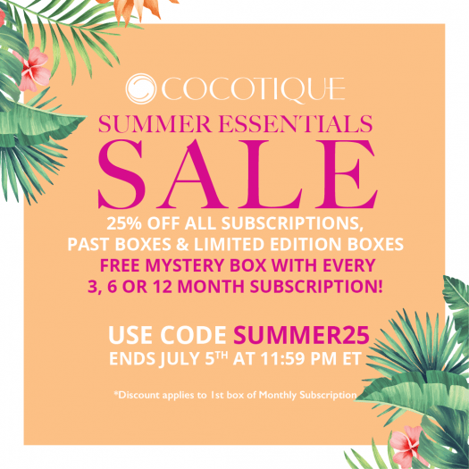 COCOTIQUE 4th of July Sale – Save 25% Off Subscriptions & Past Boxes