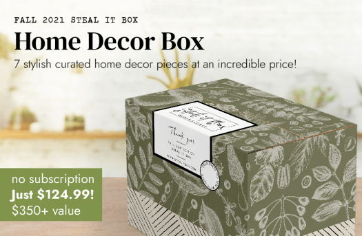 Decor Steals Fall 2021 Steal It Box – On Sale Now!