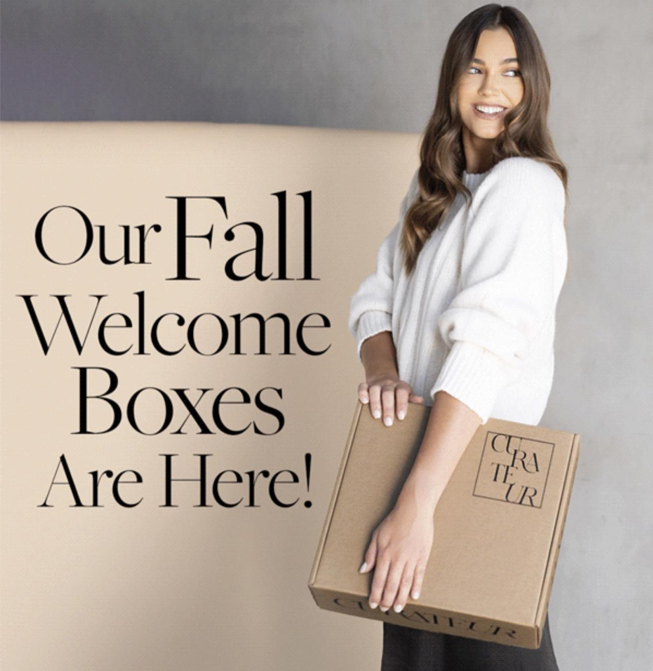 CURATEUR Fall 2021 Welcome Boxes – On Sale Now + Save $10