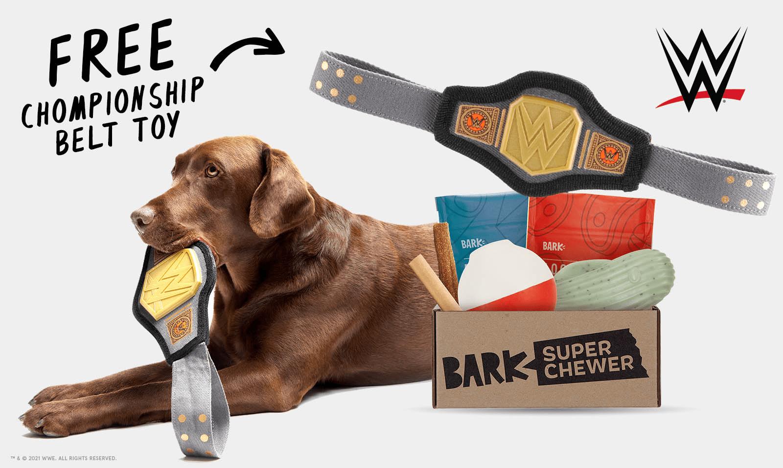 BarkBox Super Chewer Coupon Code – Free Championship Belt Toy