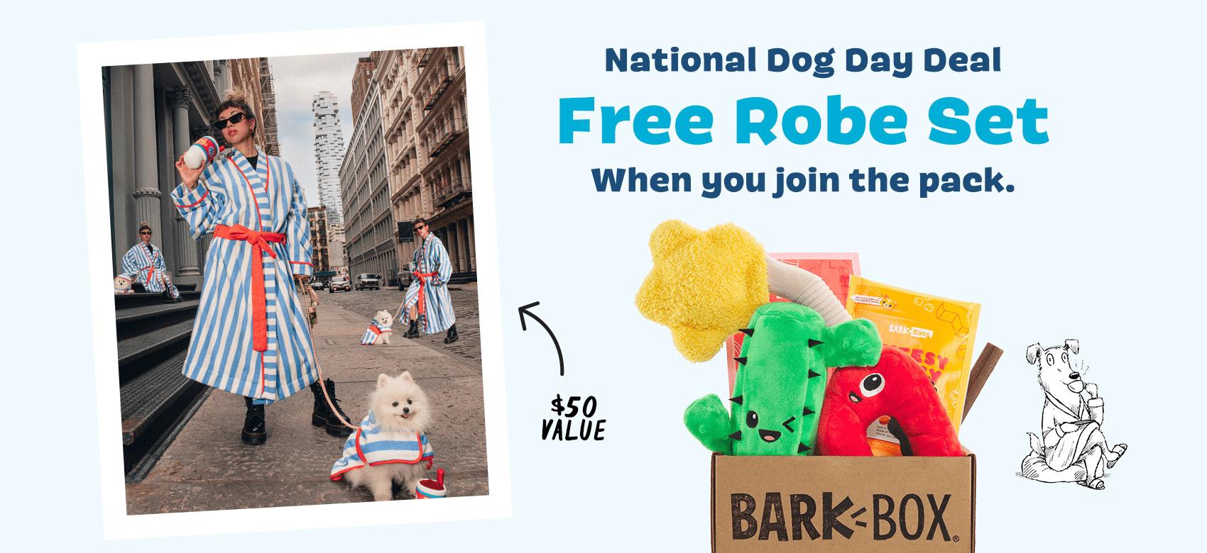 BarkBox Coupon Code: FREE Human + Dog Bathrobe Bundle