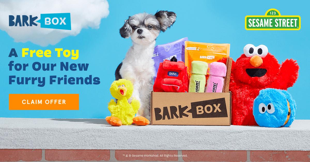 BarkBox Coupon Code: FREE Sesame Street Toy