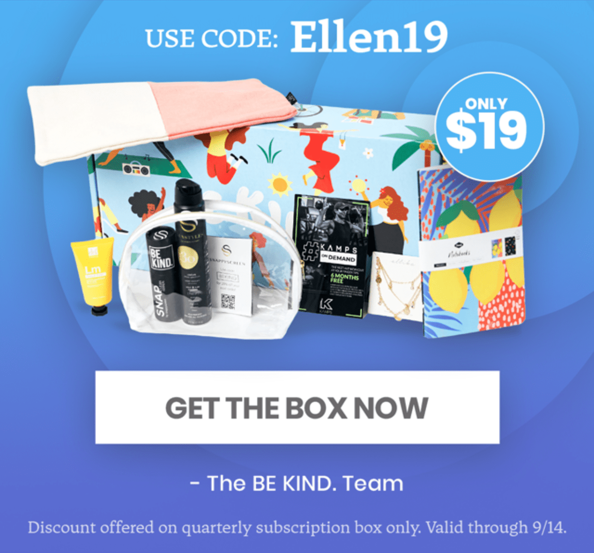 Be Kind by Ellen – First Box for $19