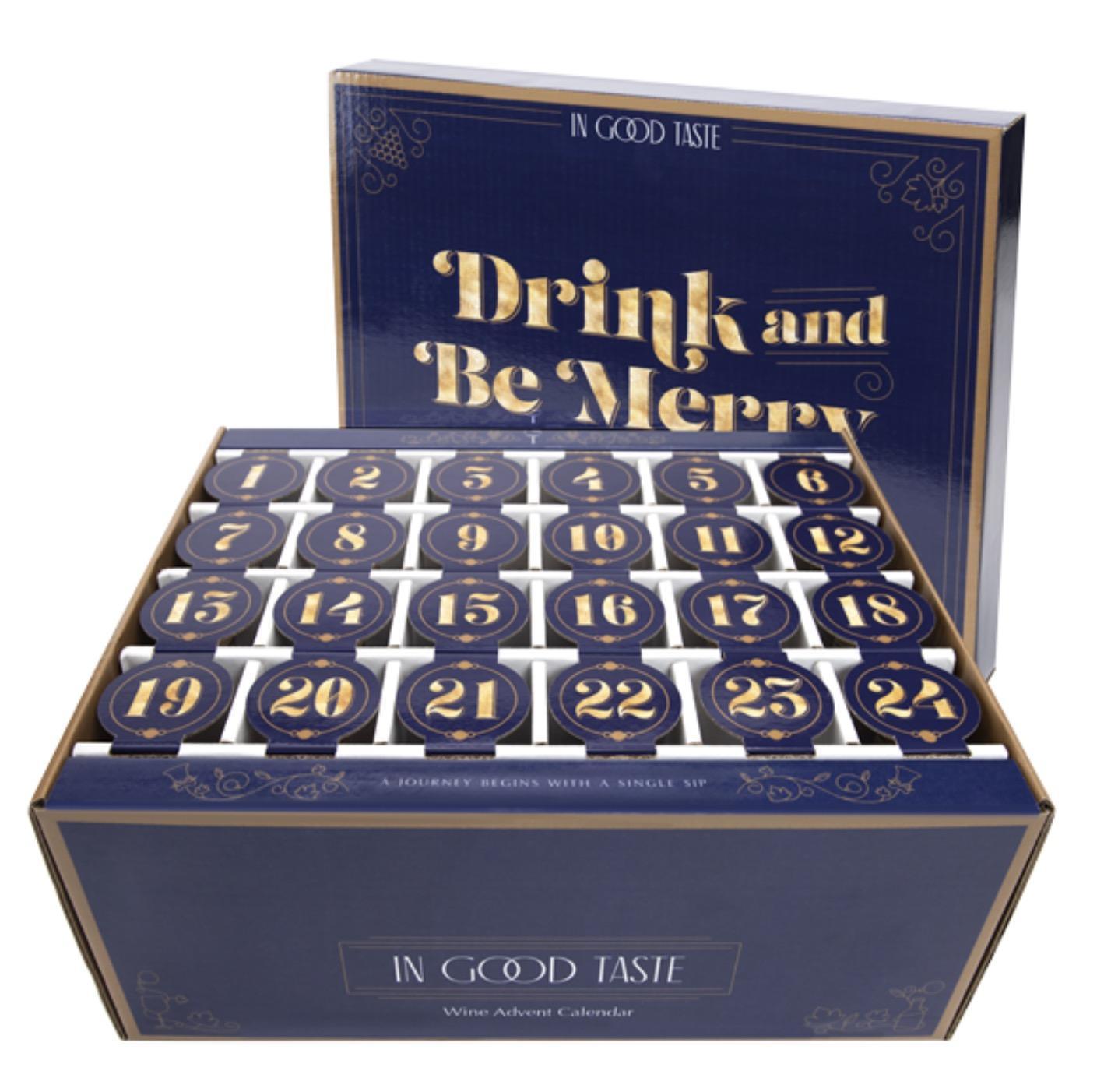 In Good Taste Drink & Be Merry Wine Advent Calendar – On Sale Now!