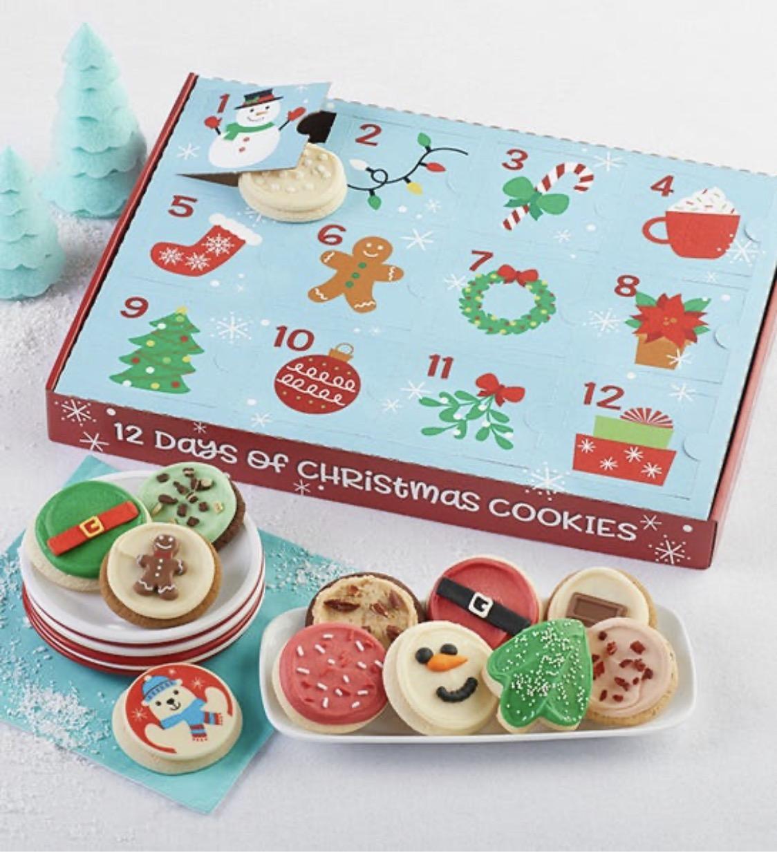 Cheryl's Cookies 12 Days of Christmas Advent Calendar Gift Box