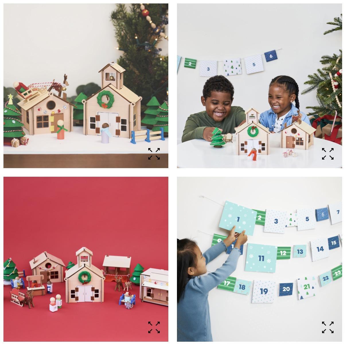 Kiwi Crate Christmas Village Advent Calendar